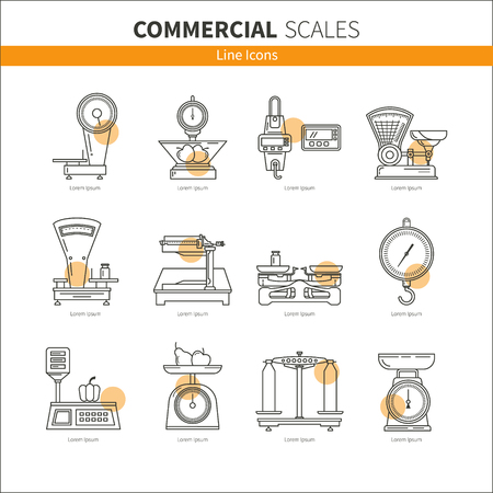 Set icons commercial weights