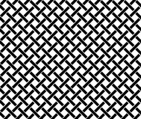 Illustration for Abstract geometric pattern background with hexagonal and triangular texture. Black and white seamless grid lines. - Royalty Free Image