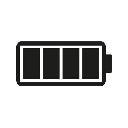 Vektor für Full charge flat icon on a white background. - Lizenzfreies Bild