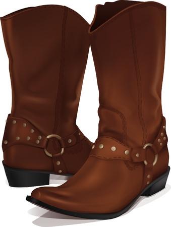 vector cowboy boots