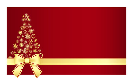 Luxury Christmas certificate with Christmas tree composed from snowflakes