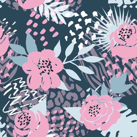 Illustration pour Beautiful seamless vector floral pattern background. Perfect for wallpapers, web page backgrounds, surface textures, textile and other design - image libre de droit