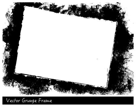 Illustration pour Vector Grunge rectangle frame with linen texture hand drawn backgrounds - image libre de droit