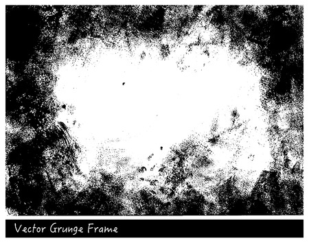 Illustration for Vector Grunge frame with linen texture hand drawn backgrounds - Royalty Free Image