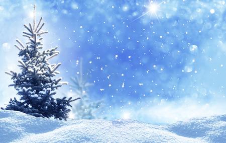 Foto de winter christmas landscape - Imagen libre de derechos
