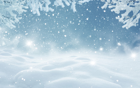 Photo pour Winter christmas landscape - image libre de droit
