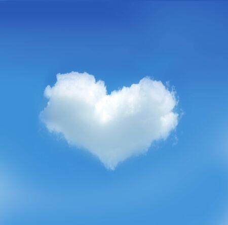 Photo pour Heart cloud on the blue sky - image libre de droit