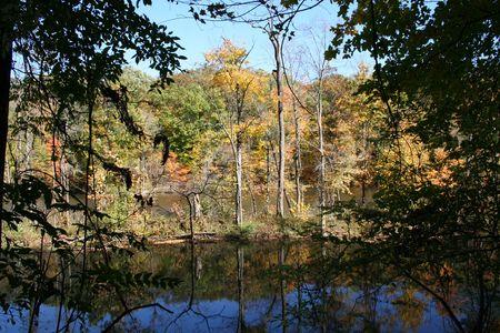 Fall on the river in Grand Ledge Michigan.