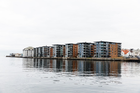 Apartment buildings at Hasseloy, in the city of Haugesund, Norway