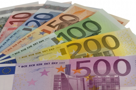Flapper of euro banknotes