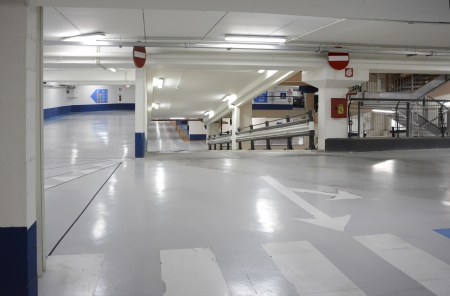 Photo for Ramp inside an empty public garage - Royalty Free Image