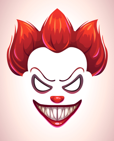 Illustration pour Creepy clown mask. - image libre de droit