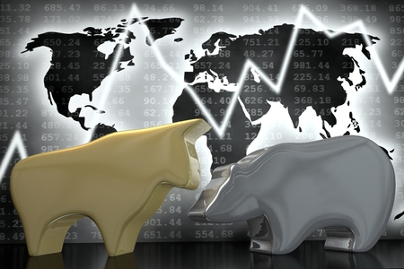 Bull and Bear (gold and silver)