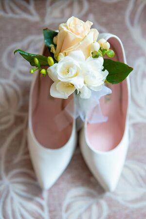 Foto de wedding bride attributes. Wedding day decoration. married - Imagen libre de derechos