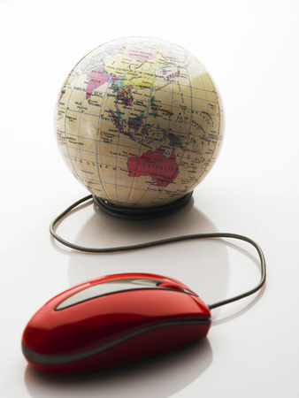 Mouse connected to the globe