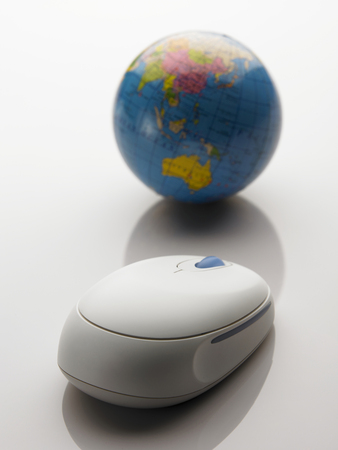 Wireless mouse and globe