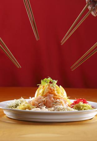 Foto de yusheng  ready to eat - Imagen libre de derechos