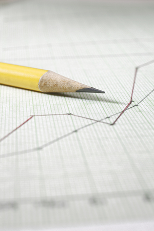 pencil on the printed graph paper