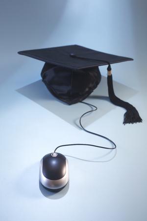 Photo pour concept shot of the e learning or online education - image libre de droit