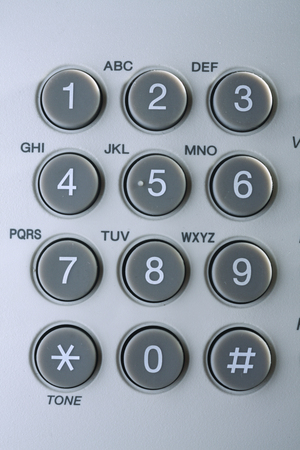 close up of the telephone pad