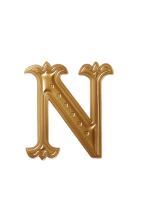 Foto de clipping path of the golden alphabet n - Imagen libre de derechos