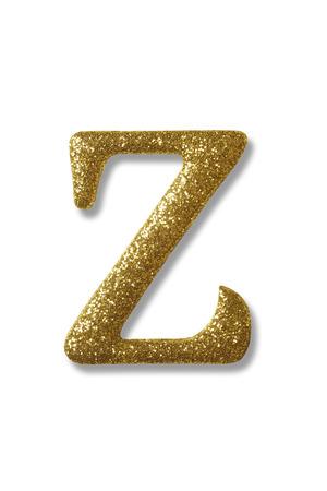 Foto de clipping path of the golden alphabet z - Imagen libre de derechos