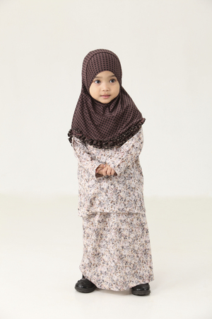 Photo for Cute  little young Muslim Malaysian girl - Royalty Free Image
