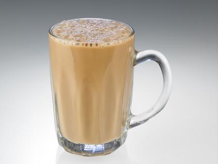 Photo pour Tea with milk or Teh Tarik in Malaysia - image libre de droit