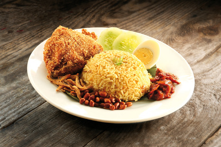 Nasi briyani fried chicken