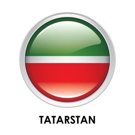 Round flag of Tatarstan
