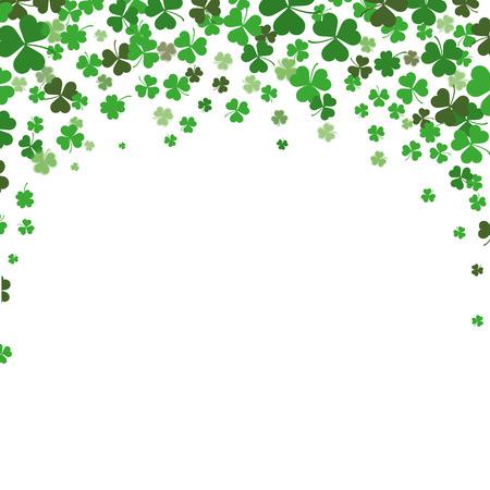 Illustration pour Vintage cover with shamrocks for St. Patrick's Day. Eps 10 vector file. - image libre de droit