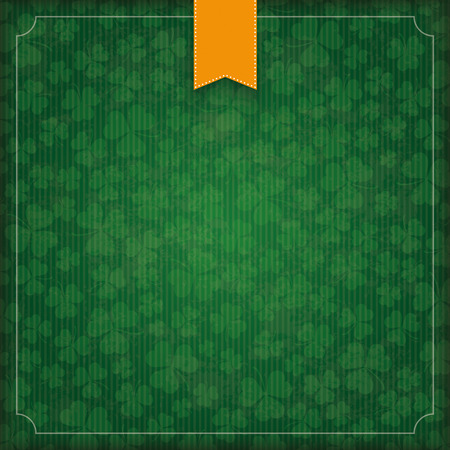 Vintage cover with flag and frame for St. Patrick's Day. Eps 10 vector file.