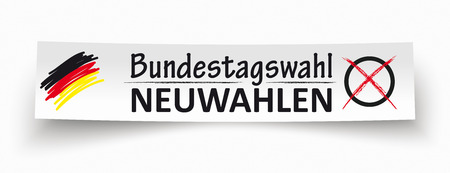 German Text Bundestagswahl Neuwahlen, translate parliamentary elections for the Bundestag 2018 and new elections.