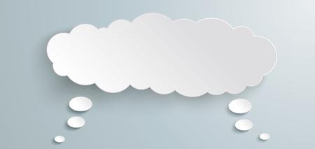 Illustration pour Double thought bubble on the gray background.  Eps 10 vector file. - image libre de droit