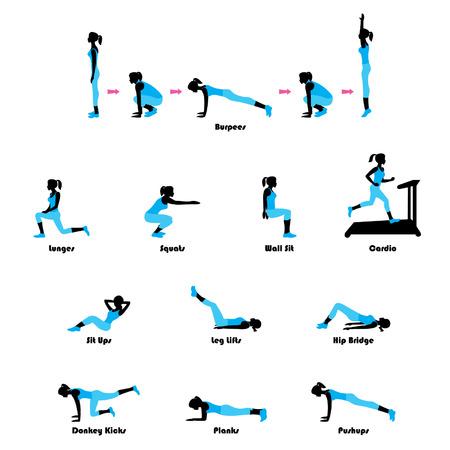 Ilustración de Exercises - Imagen libre de derechos