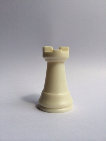 White rook chess piece