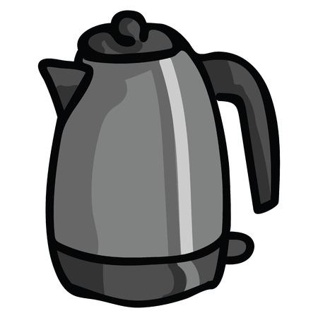 Illustration of Isolated Kettle Cartoon