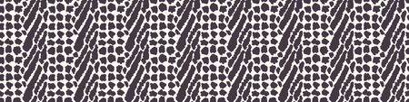 Monochrome Vector Animal Skin Texture. Abstract Cat Dot, Giraffe or Spotted Appaloosa Effect Textured Background. Rough Hand Drawn Rugged Graphic Style Seamless Pattern. Zebra Mix Repeat Tile EPS 10