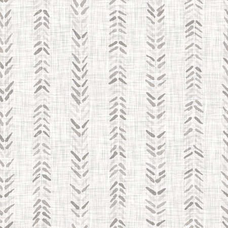 Seamless light grey woven chevron linen texture background. Flax hemp fiber natural pattern. Organic fibre close up weave fabric surface material. Ecru geometric stripe natural cloth textured rough.