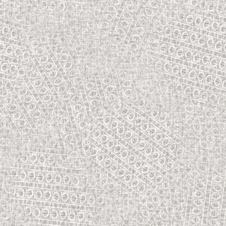 Seamless light grey woven collage linen texture background. Flax hemp fiber natural pattern. Organic fibre close up weave fabric surface material. Ecru irregular blur cloth textured rough material