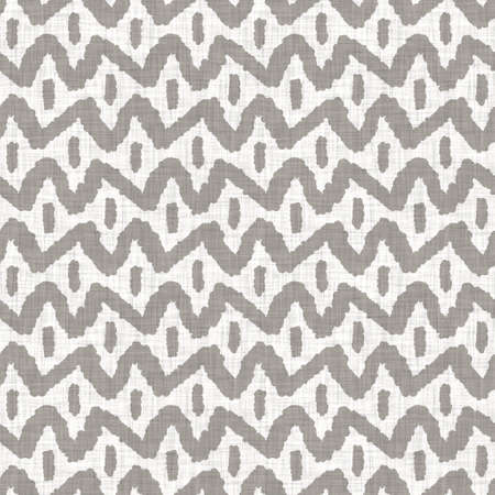 Photo pour Seamless gray french woven linen rope stripe texture background. Farmhouse ecru flax hemp fiber natural pattern. Organic yarn close up weave fabric. Ecru greige cloth textured rough material - image libre de droit