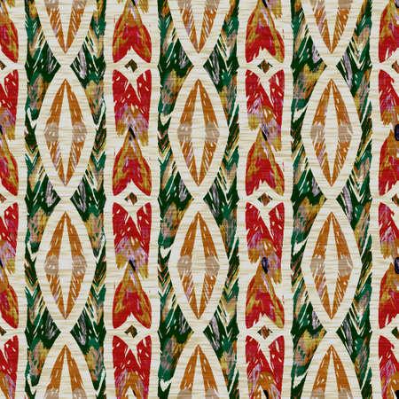 Seamless sepia grunge chevron stripe print texture background. Worn mottled linear striped pattern textile fabric. Grunge rough blur linen allover printの素材 [FY310157512150]