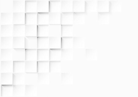 Illustration pour Abstract. Embossed paper square white Background ,light and shadow .Vector.  - image libre de droit