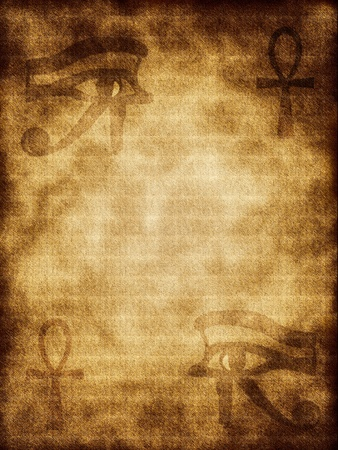 The ancient Egyptian symbols on background