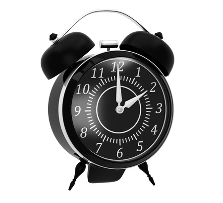 Classic black alarm clock