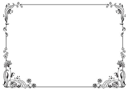 Illustration pour Calligraphic frame and page decoration. Vector illustration. Vector of decorative horizontal element, border and frame. - image libre de droit