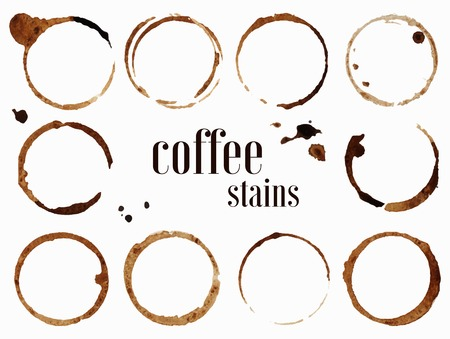 Illustration for Coffee stains. Vector illustration isolated on white background - Royalty Free Image