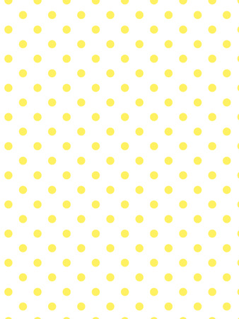 White background with yellow polka dots.