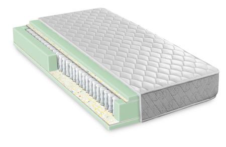 Photo pour Hybrid foam latex bonnell spring mattress cross section - hi quality and modern - image libre de droit