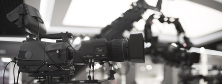 Photo for preparation for shooting a concert on television - Royalty Free Image